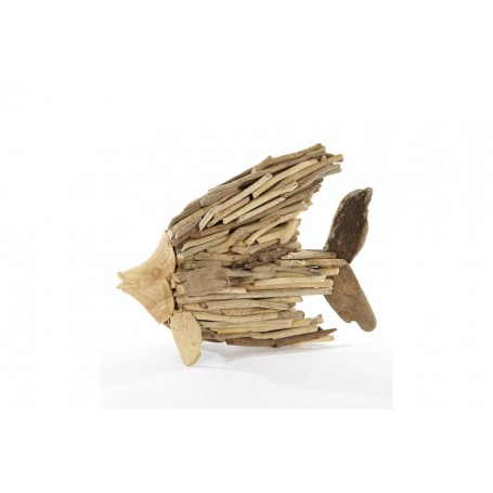 Wonderful meuble tete de lit 14 poisson bois for Meuble en bois flotte