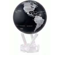 Globe terrestre Black Metallic