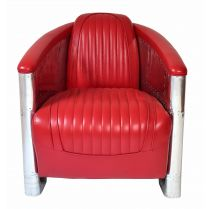 Fauteuil Club Alu DC3 Rouge