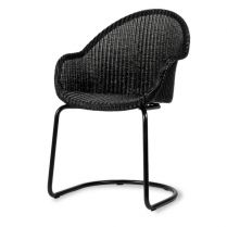 Chaise en Loom, Avril HB Black Cantilever Base