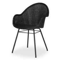 Chaise en Loom, Avril HB Steel A Base pure Black